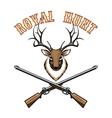 Royal hunt vintage label vector image vector image