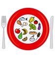 food wheel vector image