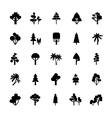 Tree Set Black And White vector image vector image