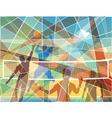 Volleyball mosaic vector image