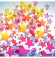 abstract colorful star background vector image