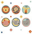 Cartoon animals characters vector image
