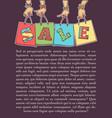 Cartoon sale banner and flyer template women vector image