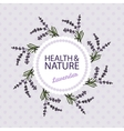 Health and Nature Collection Lavender vector image