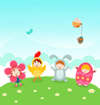 Kids Easter Party vector image