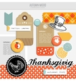 Set of autumn fall scrapbooking and web vector image