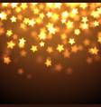 shiny stars background vector image