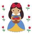 SnowWhite and tulips vector image