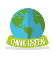 think green globe world vector image