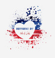 usa independence day background happy 4th of july vector image