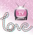 Love television symbols vector image vector image