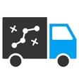 Route Van Flat Icon vector image