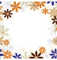 Flowers frame background vector image