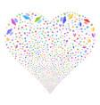 alien invasion fireworks heart vector image
