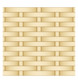 straw weaving as seamless background vector image vector image