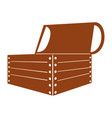 wooden chest isolated icon vector image