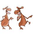 Cartoon characters two moose talk vector image