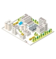 isometric industrial district vector image