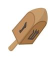 A wooden dreidel cartoon icon vector image