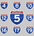INTERSTATE SIGNS 4-19 vector image