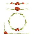 poppy design elements vector image vector image