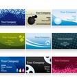 Business cards set IV vector image
