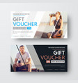design of a gift voucher with diagonal lines and vector image