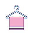 laundry garments hanging icon vector image