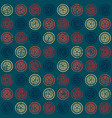 Seamless pattern with stars in circles vector image
