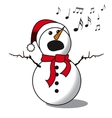 Snowman singing -choir vector image