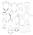 kids underwear vector image