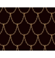 Golden chain seamless pattern on chocolate brown vector image