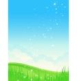 Beautiful summer landscape vector image vector image