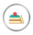 Books icon cartoon Single education icon from the vector image