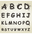 Blot Alphabet Fonts vector image