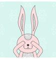 Funny bunny hidden rabbit head Happy Easter vector image