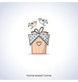 cute home gift vector image vector image
