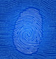 Data encoded fingerprint abstract vector image vector image