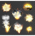 Big explosions set vector image