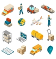 Logistics Transportation Symbols Isometric Icons vector image