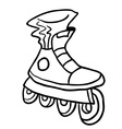black and white roller blade vector image