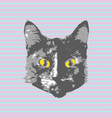 cats face cartoon seamless animal wallpaper vector image