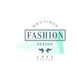 fashion boutique logo design badge for clothes vector image