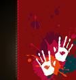 hand splash background vector image