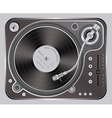 Interface Turntables on Whete Background vector image