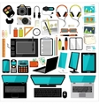 Office items and accessories vector image