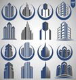 realty logo set 1 vector image