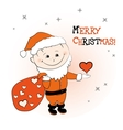 Santa Claus with a gift in hand vector image