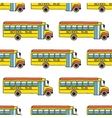 School bus seamless pattern vector image