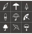 umbrella icon set vector image